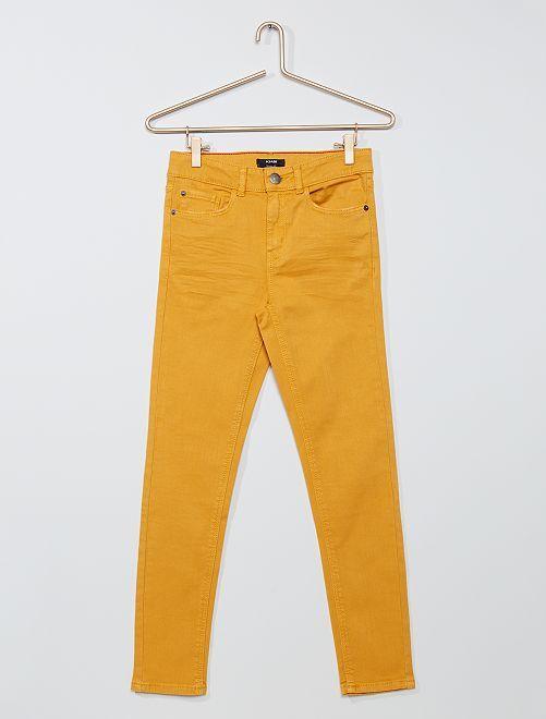 Pantalón skinny de sarga 'eco-concepción'                                                     AMARILLO