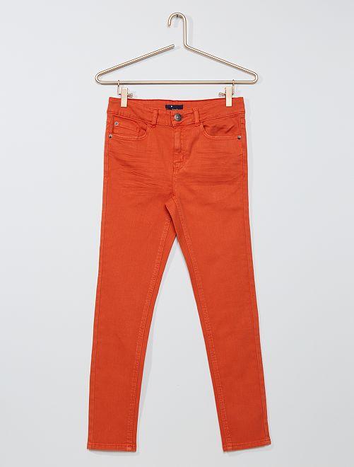 Pantalón skinny de sarga 'eco-concepción'                                                                 naranja