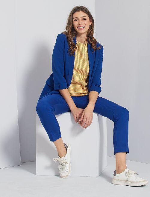 Pantalón skinny de talle alto                                                     azul