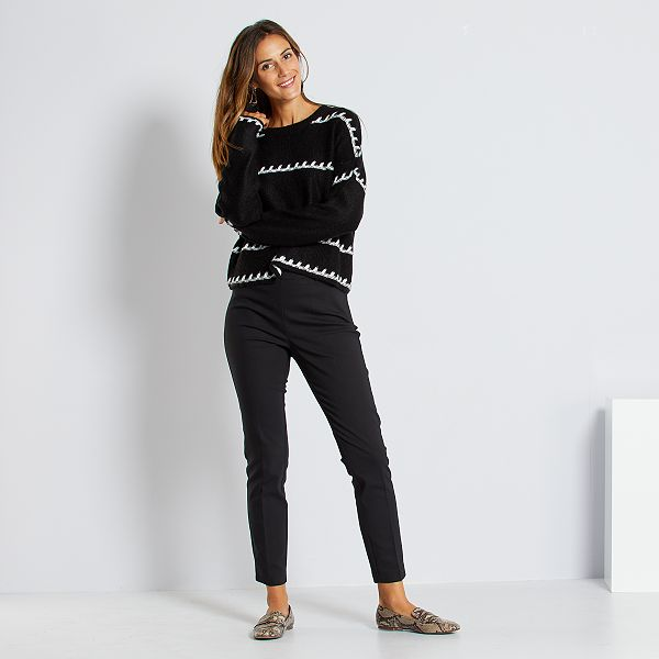 Pantalon Skinny De Talle Alto Mujer Talla 34 A 48 Kiabi 15 00