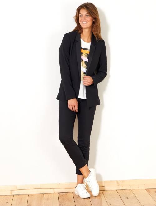 Pantalón skinny elástico 7/8                                                     negro Mujer talla 34 a 48