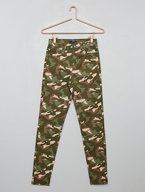 Pantalón skinny elástico                                                                 camuflaje