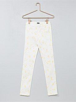 Pantalones slim - Pantalón skinny elástico moteado - Kiabi
