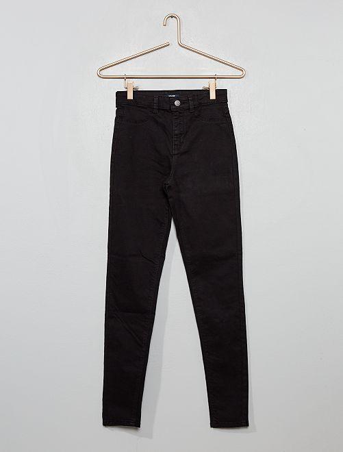 Pantalón skinny elástico                                                                 negro