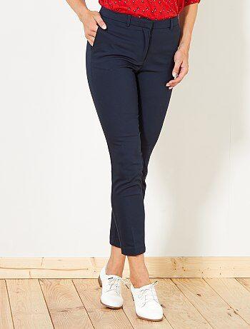 Mujer Talla A Kiabi 48Azul Pantalones 34 IHED29