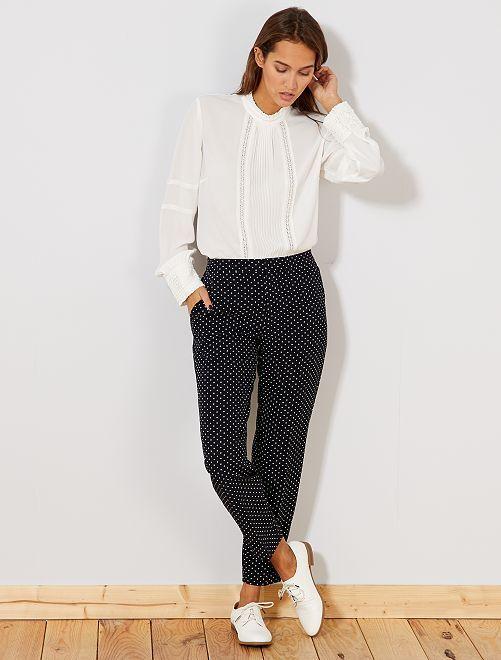 Pantalón skinny liso                             NEGRO Mujer talla 34 a 48