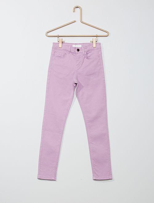 Pantalón skinny                                                                                                                                                                                                     malva claro
