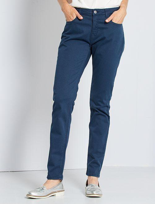 Pantalón skinny multibolsillos                                                                                                                             azul