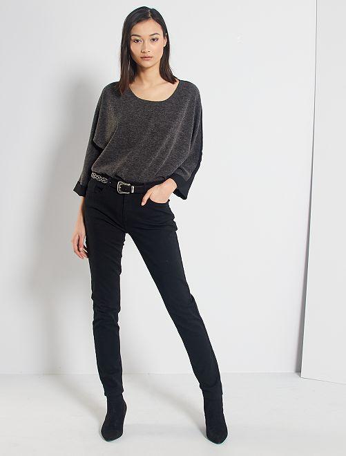 Pantalón skinny multibolsillos                                                                                                     negro