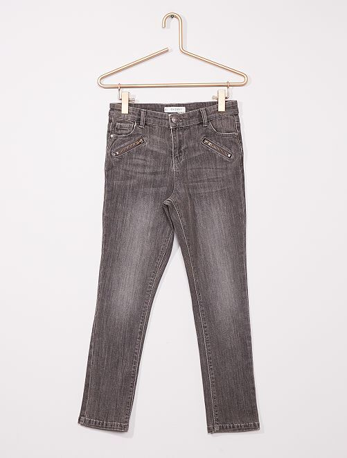 Pantalón skinny niños talla +                                         GRIS