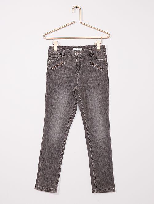 Pantalón skinny niños tallas grandes                                         GRIS