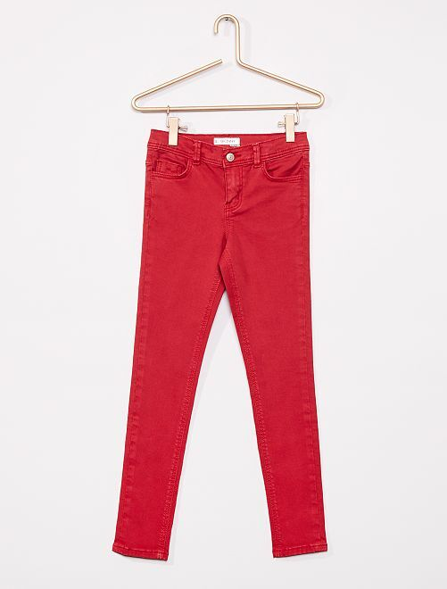 Pantalón skinny                                                                                                                                                                             rojo