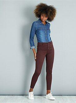 Pantalones - Pantalón skinny tacto suave