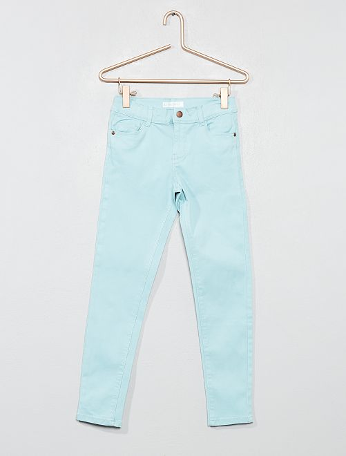 Pantalón skinny vaquero                                                                     azul turquesa