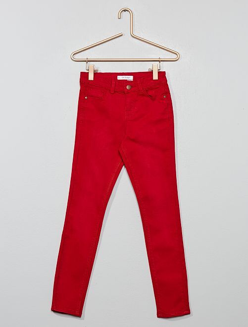 Pantalón skinny vaquero                                                                             ROJO