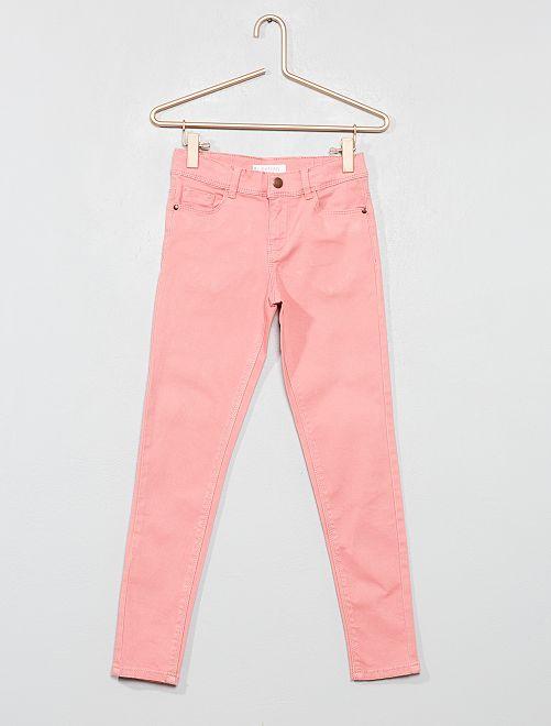 Pantalón skinny vaquero                                                                                                     rosa claro