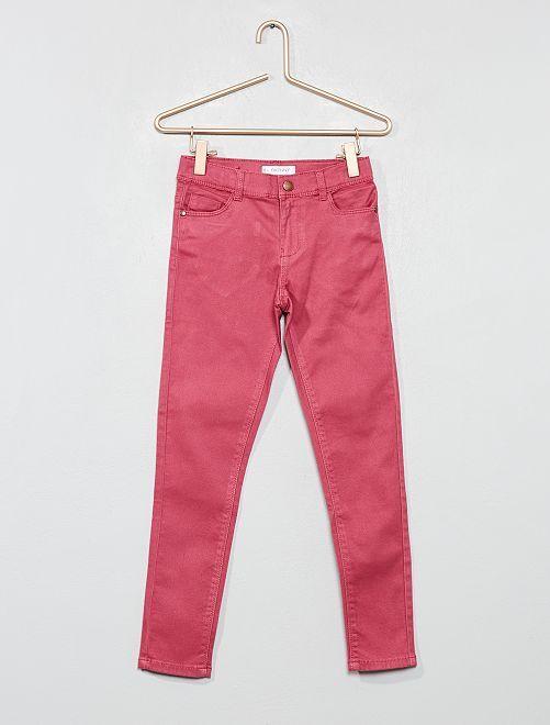 Pantalón skinny vaquero                                                                                                     rosa oscuro Chica