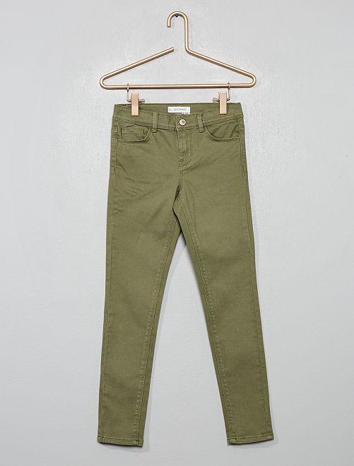 Pantalón skinny                                                                                                                                                                                                     verde liquen