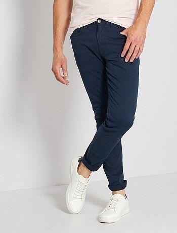 Pantalón slim 5 bolsillos de sarga - Kiabi