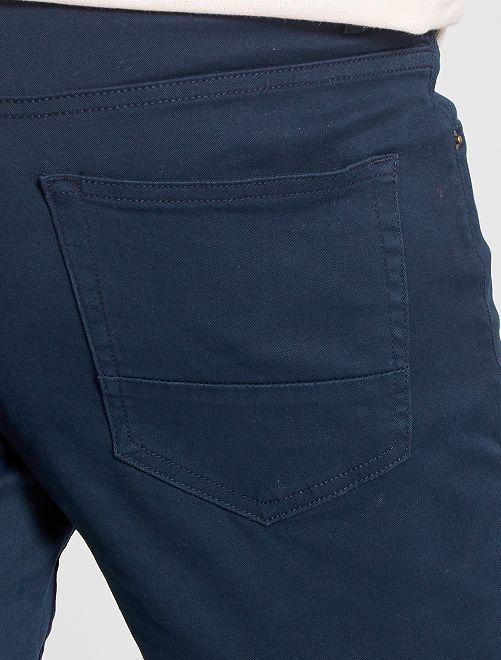 45edcb9d50 Pantalón slim 5 bolsillos de sarga Hombre - AZUL - Kiabi - 12