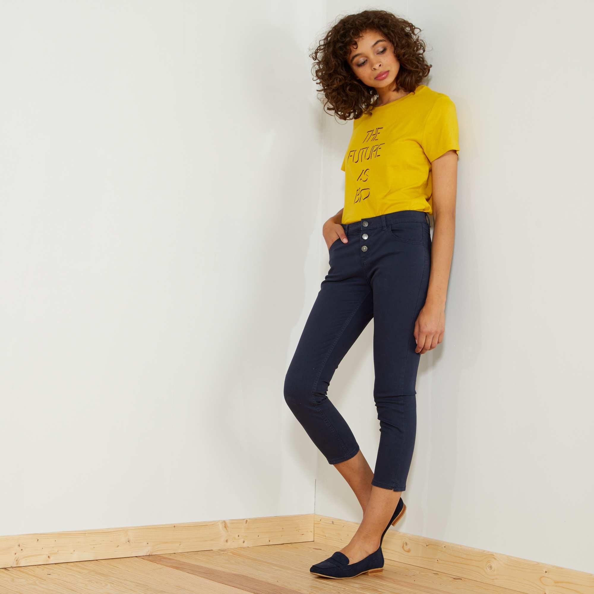 Pantalón slim 7 8 Mujer talla 34 a 48 - Kiabi - 10 f5d8d70f4635