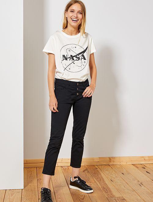 Pantalón slim 7/8                                                                                                     negro Mujer talla 34 a 48