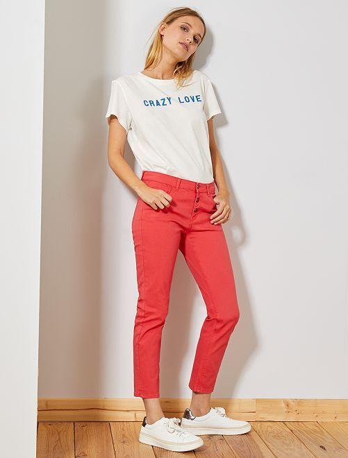 Pantalón slim 7/8                                                                                                     rojo Mujer talla 34 a 48