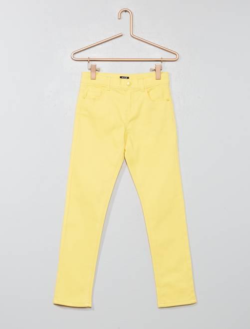 Pantalón slim                                                                                                                                         AMARILLO Chica
