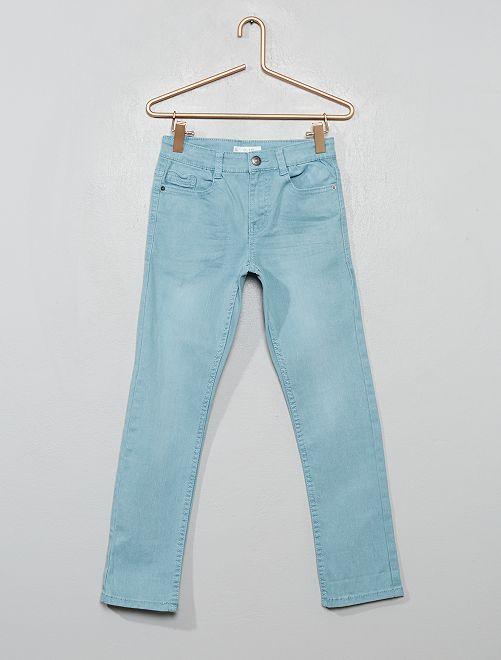 Pantalón slim                                                                                                     azul ceniciento