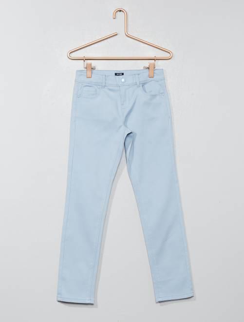 Pantalón slim                                                                                                     azul gris Chica