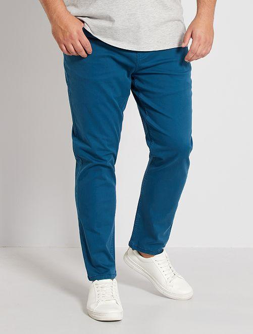 Pantalón slim                                                                             azul poseidon