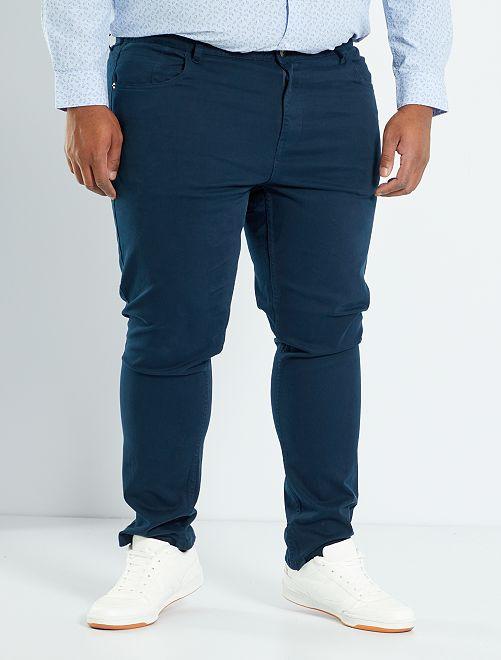 Pantalón slim                                         AZUL Tallas grandes hombre