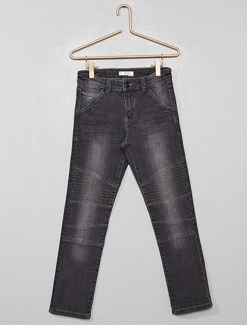 Pantalón slim 'biker'                                         GRIS