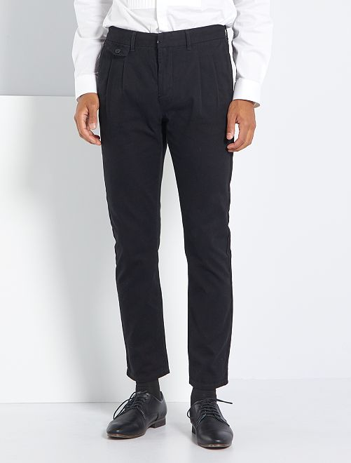 Pantalón slim city                                         negro