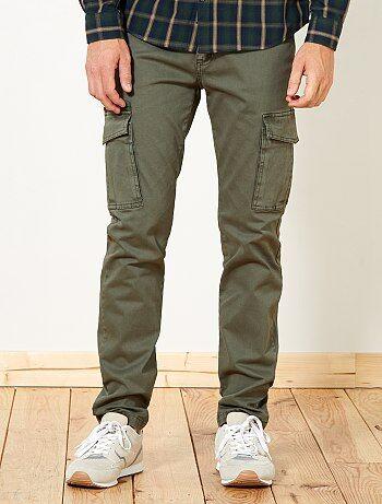 Pantalón slim con bolsillos cargo - Kiabi
