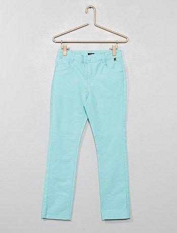 4a65a9c01aa Pantalón slim de algodón elástico con textura - Kiabi