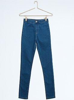 Niña 10-18 años Pantalón slim de algodón elástico