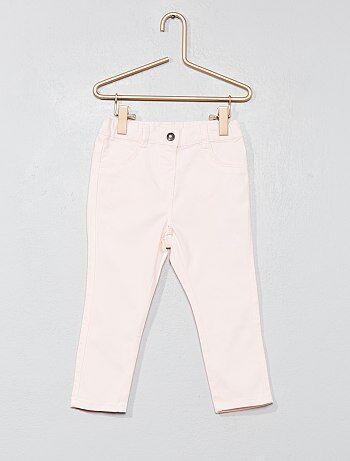 Pantalón slim de algodón elástico - Kiabi