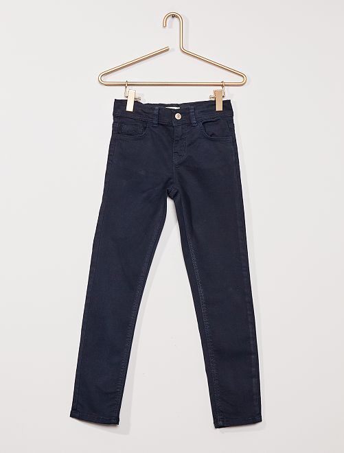Pantalón slim de color                                                                                                     azul