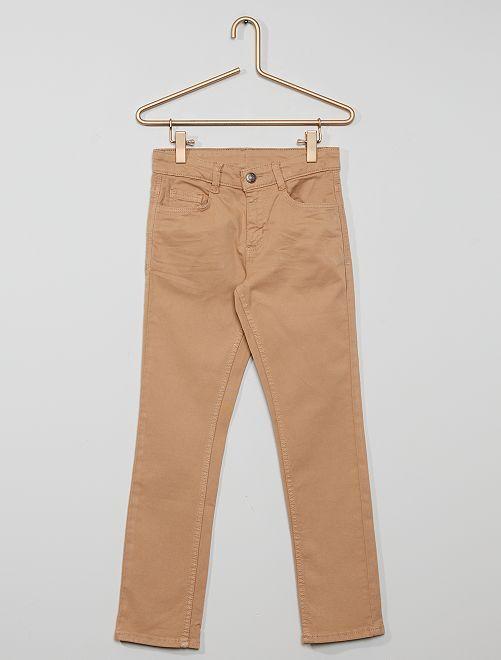 Pantalón slim de sarga 'eco-concepción'                                                                                                                 BEIGE