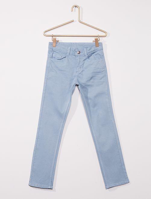 Pantalón slim de sarga 'eco-concepción'                                                                                                                                         gris azul