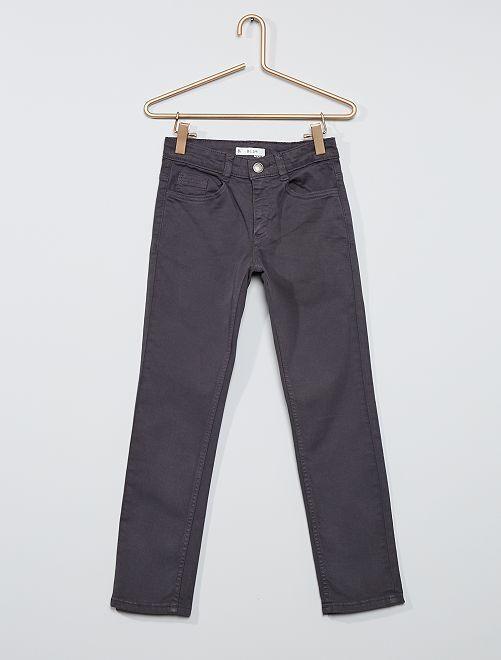 Pantalón slim de sarga 'eco-concepción'                                                                                                                 GRIS
