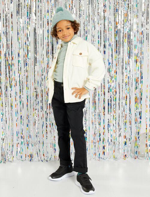 Pantalón slim de sarga 'eco-concepción'                                                                                                                                         negro