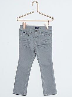 Pantalones - Pantalón slim de sarga