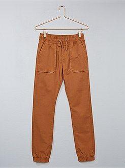 Pantalón slim de sarga - Kiabi