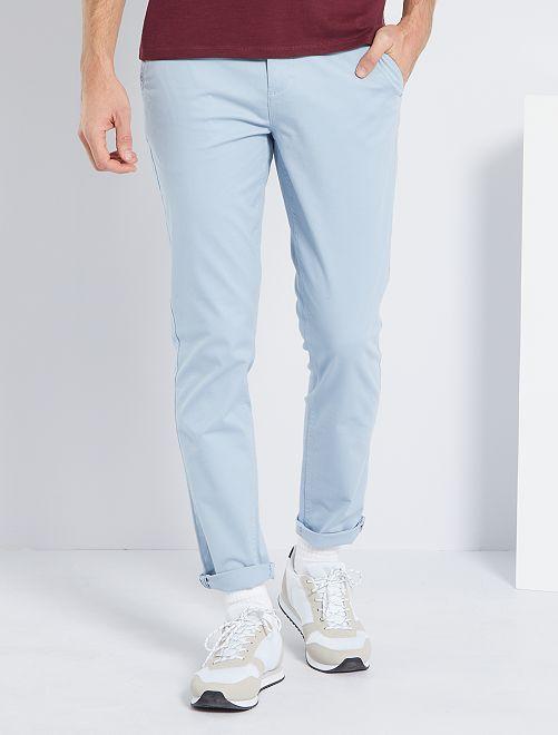Pantalón slim eco-concepción                                                                                                                                                                                                                                                                                                                                                                                         azul gris