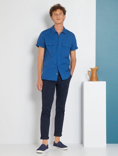 Pantalón slim eco-concepción                                                                                                                                                                                                                                                                                                                                                     azul