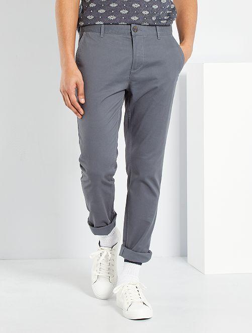 Pantalón slim eco-concepción                                                                                                                                                                                                                                                     GRIS