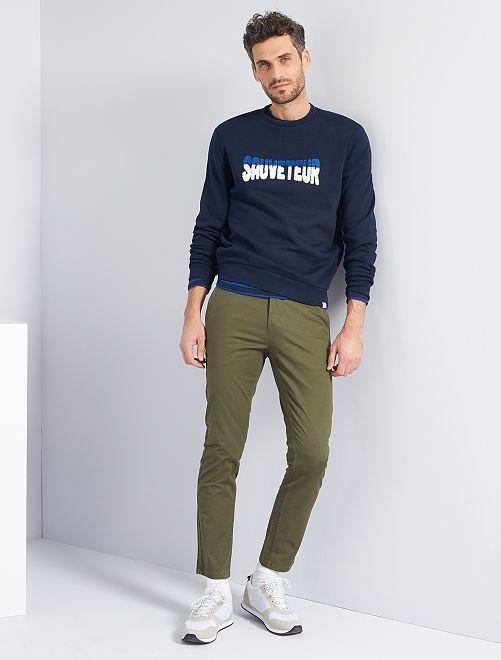 Pantalón slim eco-concepción                                                                                                                                                                                                                                                                                                                                                     KAKI