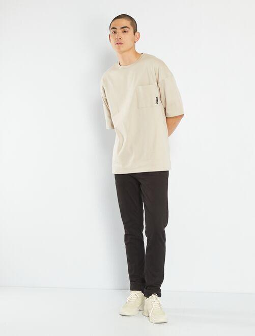 Pantalón slim eco-concepción                             negro